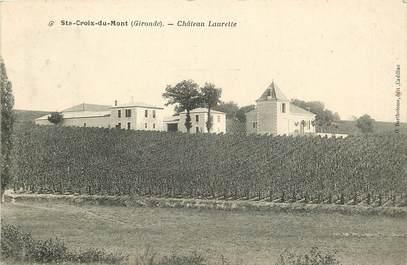 """CPA FRANCE 33 """"Sainte Croix du Mont, Chateau Laurette"""""""