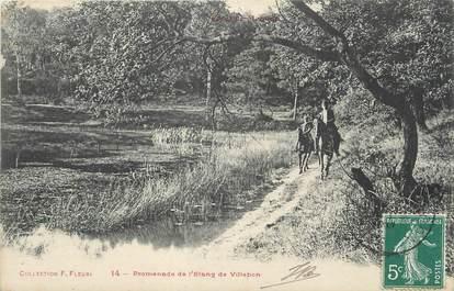 """/ CPA FRANCE 92 """"Promenade de l'Etang de Villbon"""""""