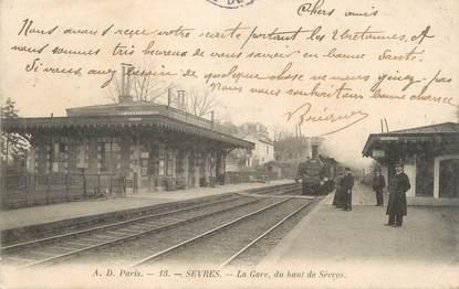 """/ CPA FRANCE 92 """"Sèvres, la gare, du haut de Sèvres"""""""