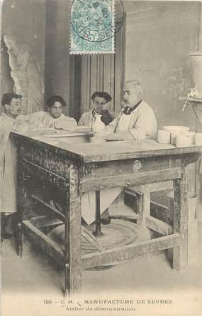 """/ CPA FRANCE 92 """"Manufacture de Sèvres, atelier de démonstration"""""""