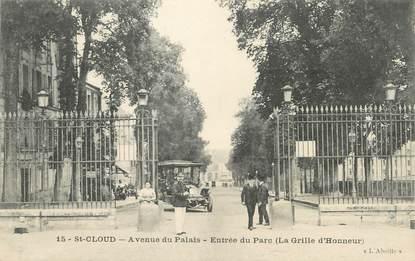 "/ CPA FRANCE 92 ""Saint Cloud, av du Palais"""