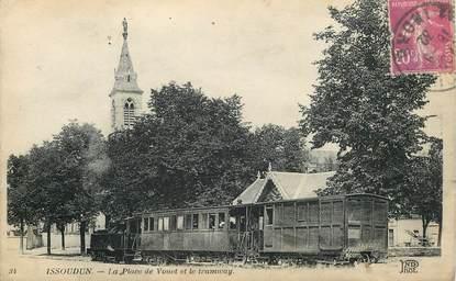 """CPA FRANCE 36 """"Issoudun, la place de Vouet et le tramway"""""""