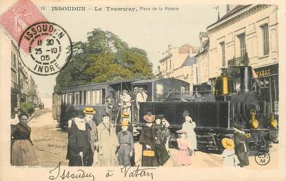 """CPA FRANCE 36 """"Issoudun, le tramway, place de la Poterie"""""""