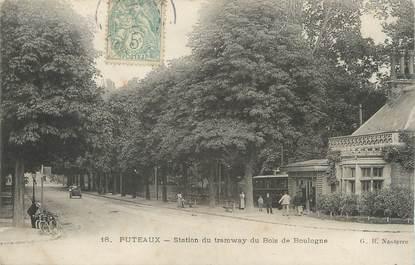 """/ CPA FRANCE 92 """"Puteaux, station du tramway du bois de Boulogne"""""""