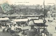 """92 Haut De Seine / CPA FRANCE 92 """"Puteaux, le marché"""""""