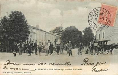 """CPA FRANCE 47 """"Marmande, Place de Lestang, rte de Saint Bazeilles"""""""