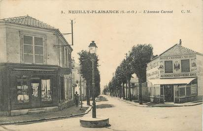 "/ CPA FRANCE 93 ""Neuilly Plaisance, l'avenue Carnot"""