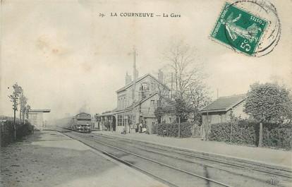 """/ CPA FRANCE 93 """"La Courneuve, la gare"""""""
