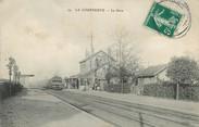 """93 Seine Saint Deni / CPA FRANCE 93 """"La Courneuve, la gare"""""""