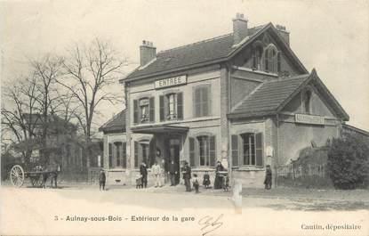 """/ CPA FRANCE 93 """"Aulnay sous Bois, extérieur de la gare"""""""