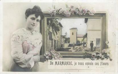 """CPA FRANCE 47 """"De Marmande, je vous envoie ces fleurs"""""""
