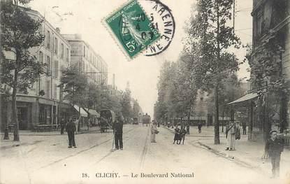 "/ CPA FRANCE 93 ""Clichy, le bld National"""