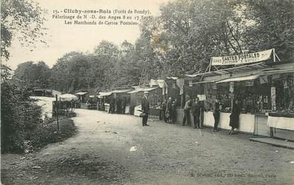 """/ CPA FRANCE 93 """"Clichy sous Bois, les marchands de cartes postales"""""""