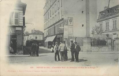 """/ CPA FRANCE 93 """"Noisy le Sec, carrefour rue de Brément, et rue de la Forge"""""""