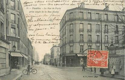 "/ CPA FRANCE 93 ""Pantin, la rue de Paris"""