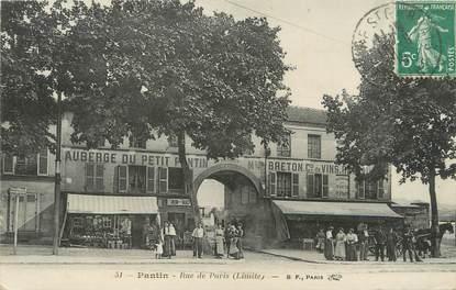 """/ CPA FRANCE 93 """"Pantin, rue de Paris"""""""