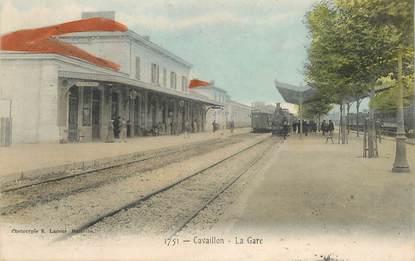 """FRANCE 84  """"Cavaillon, la Gare"""" / TRAIN"""
