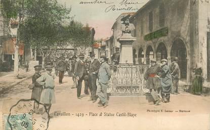 """FRANCE 84  """"Cavaillon, Place et statue Castil Blaze"""""""