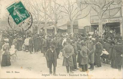 """CPA  FRANCE 84  """"Avignon, Foire Foraine, Boulevard Saint Roch"""""""