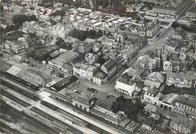 """/ CPSM FRANCE 88 """"Saint Dié, vue aérienne, quartier de la gare"""""""