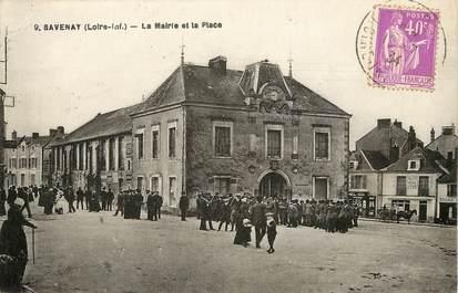 """CPA FRANCE 44 """"Savenay, la mairie et la place"""""""