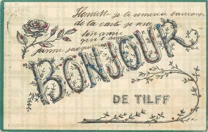"""CPA BELGIQUE """"Bonjour de Tilff"""""""