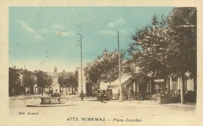 "CPA FRANCE 13 ""Miramas, Place Jourdan"" + NEGATIF DU TIRAGE"