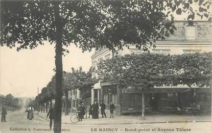 "/ CPA FRANCE 93 ""Le Raincy, rond point et av Thiers"""