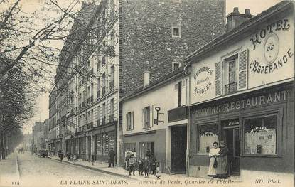 "/ CPA FRANCE 93 ""La Plaine Saint Denis, av de Paris"""