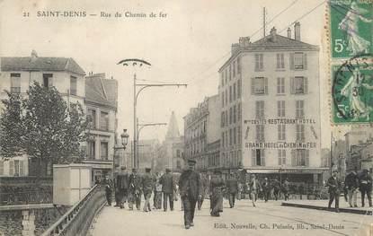"""/ CPA FRANCE 93 """"Saint Denis, rue du chemin de fer"""""""