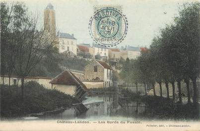 "/ CPA FRANCE 77 ""Château Landon, les bords du Fusain"""