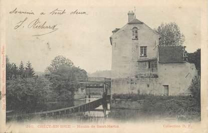 """/ CPA FRANCE 77 """"Crécy en Brie, moulin de Saint Martin"""""""