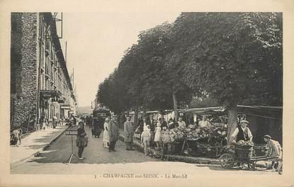 """/ CPA FRANCE 77 """"Champagne sur Seine, le marché"""""""