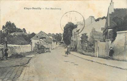 """/ CPA FRANCE 77 """"Claye Souilly, rue Beaubourg"""""""