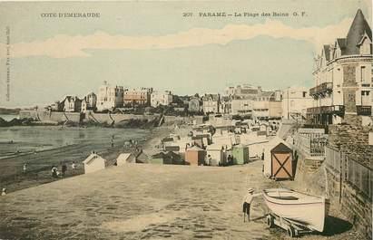 """CPA FRANCE 35 """"Paramé, la plage des Bains"""""""