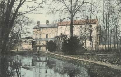 "/ CPA FRANCE 77 ""Claye Souilly, la rue et les promenades"""