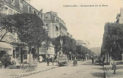 "/ CPA FRANCE 77 ""Chelles, bld de la  gare """