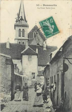 "/ CPA FRANCE 77 ""Dammartin, la cour Saint Jean"""