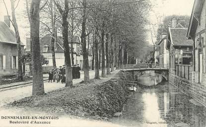 """/ CPA FRANCE 77 """"Donnemarie en Montois, Boulevard d'Auxence"""""""