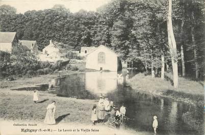"""/ CPA FRANCE 77 """"Egligny, le lavoir et la vieille Seine"""""""