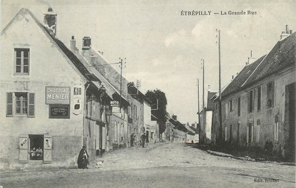 "/ CPA FRANCE 77 ""Etrépilly, la grande rue"""