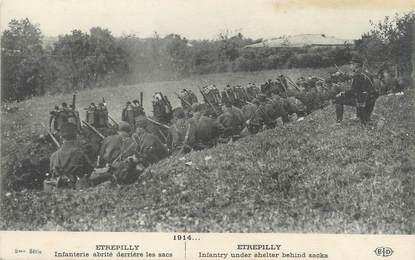 """/ CPA FRANCE 77 """"Etrépilly, infanterie abrité derrière les sacs"""""""