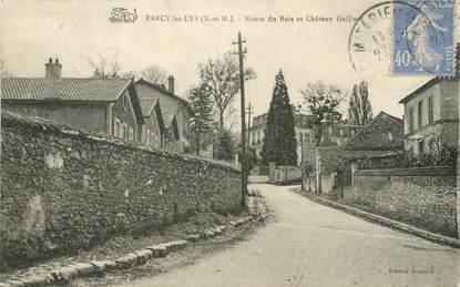 """/ CPA FRANCE 77 """"Farcy les Lys, route du Bois et château Gaillant"""""""