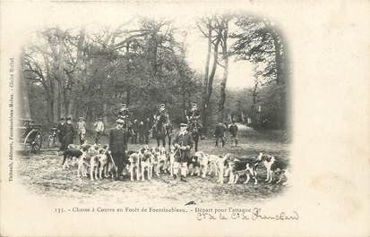 """/ CPA FRANCE 77 """"Fontainebleau"""" / CHASSE A COUR"""