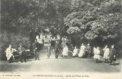"""/ CPA FRANCE 77 """"La Ferté Gaucher, jardin de l'hôtel de ville"""""""