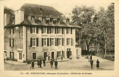 """CPA FRANCE 64 """"Saint Christau, Hôtel de la Poste"""""""
