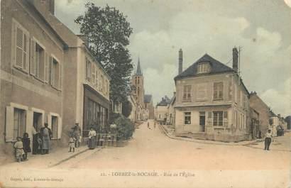 """/ CPA FRANCE 77 """"Lorrez Le Boccage, rue de l'église"""""""