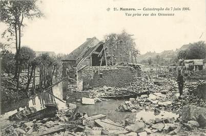 """CPA FRANCE 72 """"Mamers, catastrophe du 7 juin 1904, vue prise des Ormeaux"""""""