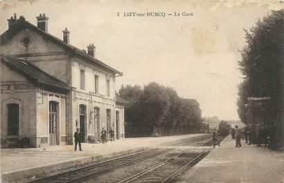 "/ CPA FRANCE 77 ""Lizy sur Ourcq, la gare"""