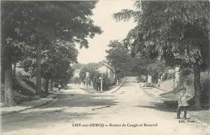 """/ CPA FRANCE 77 """"Lizy sur Ourcq, routes de Congis et Beauval"""""""